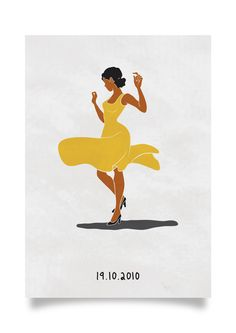 The character, Rita, from the film, Chico and Rita. A yellow summer dress, some black high heels, and a lot of spirit to carry her through the journey of life.