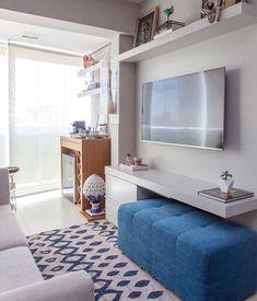 Ideas Apartment Living Room Design Night Stands For 2019 Small Apartment Living, Small Apartment Decorating, Living Room Tv, Small Living Rooms, Small Apartments, Home And Living, Living Room Designs, Small Living Room Ideas With Tv, Tv Room Small