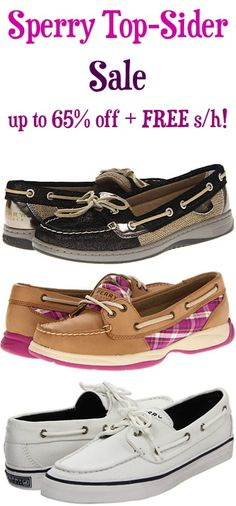 Sperry Top-Sider Shoe Sale: up to 65% off + FREE Shipping! TheFrugalGirls.com