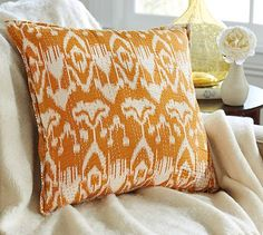 Kantha Embroidered Pillow Cover #potterybarn