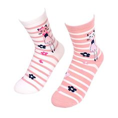 KALAWALK Womens Comfy Cotton Socks Cat striped Pattern Crew Socks 2 PairsFBA *** Be sure to check out this awesome product.