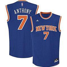 Carmelo Anthony New York Knicks Blue NBA Youth Revolution 30 Road Jersey  (Medium 10- ec333aa6013e