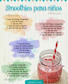 Healthy and Easy to Make Smoothies for Your Kids Fruit Drinks, Detox Drinks, Healthy Drinks, Beverages, Milk Shakes, Kids Nutrition, Health And Nutrition, Toddler Meals, Kids Meals