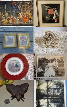 TeamVintageUSA Treasury Blitz - Butterfly Garden - A walk in the garden. by Kimberli Fuller on Etsy--Pinned with TreasuryPin.com