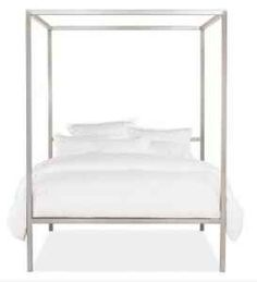 lucite bed - the lucite pops against dramatic wall color. | we