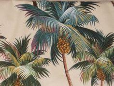 1950's Hawaiian style Barkcloth drapes...