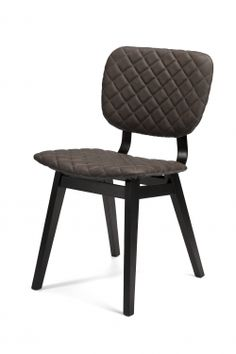 Our Sloan Quilted Ebony Leather Dining Side Chair Crafted from solid wood legs and the chair back is supported with industrial look metal straps, resulting a striking design. top grain Quilted ebony leather and a heavy burlap back upholstery Eclectic Dining Chairs, Dining Room Chairs, Side Chairs, Dining Rooms, Warm Dining Room, Dining Room Design, Hand Chair, Cast Iron Beds, Reclaimed Doors