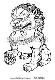 Image Result For Chinese Guardian Lion Drawing Lion Drawing Drawings Foo Dog Tattoo