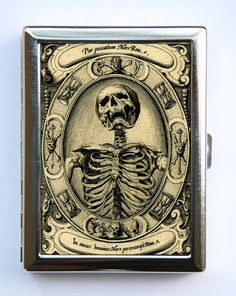 Skeleton cigarette case.