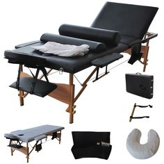 Enjoy exclusive for Giantex Portable Massage Table Facial Bed 3 Fold Section, 32 Wide Arms Salon Beauty Physiotherapy Facial SPA Tattoo Household, Adjustable Spa Bed Table w/Sheet+Cradle Bolster, Black online - Chicetorclothing Massage Bed, Massage Table, Bed Table, Table And Chairs, Lounge Chairs, Spa Room Ideas Estheticians, Table Portable, Esthetics Room, Professional Massage