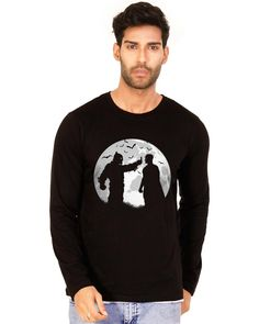 128d183006ef Buy HALFTONE Batman v Superman Jet Black Graphic Full Sleeve T Shirt at low  prices in India only on Winsant.com