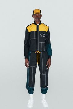 """Pyer Moss & Hennessy Debut Cyclist-Indebted Clothing Line: MMT 140 pays tribute to legendary athlete Marshall """"Major"""" Taylor. Best Mens Fashion, Sport Fashion, Fashion 2018, Womens Fashion, Fashion Design Sketches, Athletic Fashion, Sandro, Marshall Major, Alexander Wang"""