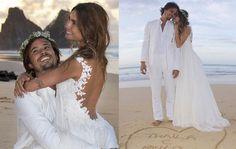Thaila Ayala e Paulo Vilhena casaram-se no fim de semana passado em Fernando de Noronha. Um casamento com a cara dos noivos, com um quê de hippie-chic, de