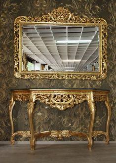 riesige casa padrino barock spiegelkonsole gold mit gruner marmorplatte luxus wohnzimmer mobel konsole mit spiegel