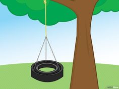 How to Make a Tire Swing (with Pictures) - wikiHow