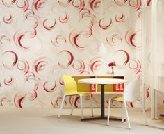 Swerve Wallcovering in Garnet, designed  by Trove for# KnollTextiles. See it in our Shop here: http://www.knoll.com/knolltextileproductdetail/Swerve