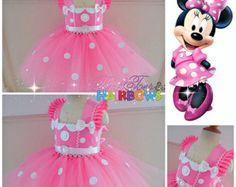 Tutu de Minnie Mouse vestido Minnie ratón tul por GlitterMeBaby