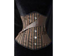 Brown under bust corset
