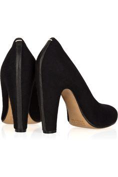 Maison Martin Margiela: Wool-covered leather pumps. #Shoes #Pumps #Maison_Martin_Margiela