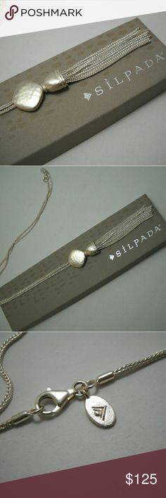 """Designer SILPADA """"Knotted"""" Necklace (N2740) Sterling silver measuring 28"""". It was used for table display only. Price is firm please (I'm selling for a friend). Silpada Jewelry Necklaces"""