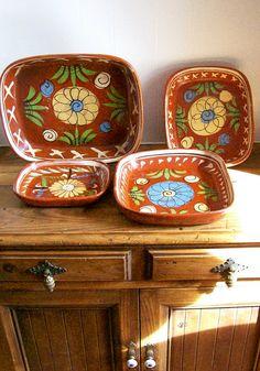 Vintage Mexican Pottery Patio Serving Ware by AletaFordBakerDesign, $50.00