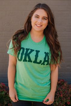 c0a06879bd3 OKLA Western Triblend Tee-Green available at J. Lilly's Boutique or  jlillysboutique.com