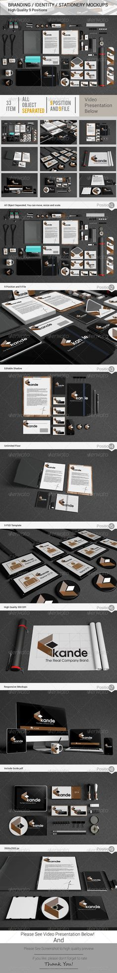 Branding / Identity / Stationery Mockups — Photoshop PSD #realistic #clean • Available here → https://graphicriver.net/item/branding-identity-stationery-mockups/5249604?ref=pxcr