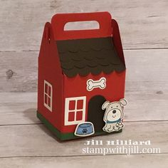 Becca-Feeken-Charming-Christmas-Charming-Cottage-Box, stamp with Jill, dog House-Mary Hoobler Christmas Gift Box, Christmas Paper, Milk Carton Crafts, Picnic Box, Dice Box, Berry Baskets, Farm Theme, Card Maker, Stamping Up