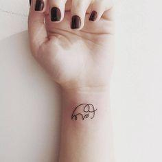 awesome Tiny Tattoo Idea - Tiny Elephant Inked On Wrist...
