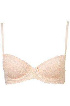 Linear Lace Balcony Bra - Padded Bras - Lingerie   - Clothing