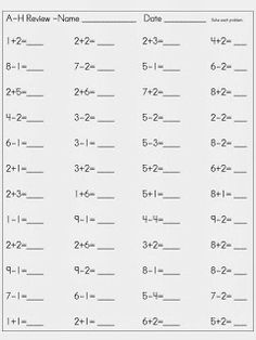 Math Fact Fluency Checks