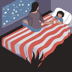 Two queer women who fled Communist regimes explain how Trump has introduced fear into their households and robbed them of the idea of home, in this Op-Ed. (Illustration: Sophia Foster-Dimino)