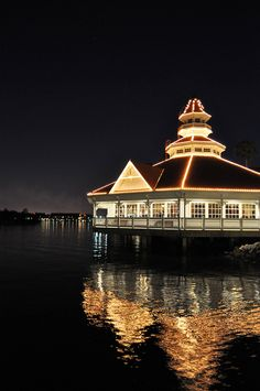 Narcoossee's Restaurant at The Grand Floridian Resort at Walt Disney World.  Probably the most beautiful restaurant at WDW.