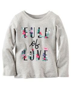 Toddler Girl Long-Sleeve Full Of Love Graphic Tee   Carters.com