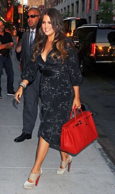 Love all aspects of this from the ombré to the red bottoms to the Birkin.