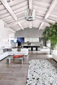 Un #loft tra natura e modernità #mansarda #design