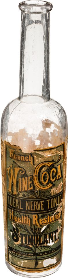 Jim Vergo bought the French Wine Coca bottle for $5 at a flea market He only realised what he had bought when he found it was embossed with the name of John Pemberton, the inventor of Coca-Cola  Pemberton marketed it as 'nerve tonic' and extolled its medical qualities