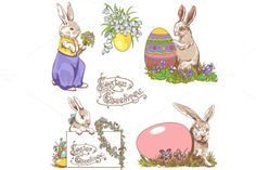 I just released Easter Bunnies, Doodle Clipart on Creative Market.