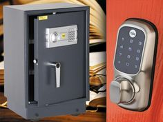 Win 1 of 3 Yale security hampers - each worth 400 - comprising a Keyless Digital Door lock and an Electronic Office Safe Office Safe, Popular Mechanics, Hampers, Door Locks, Locker Storage, Competition, October 2014, Gadgets, Gadget