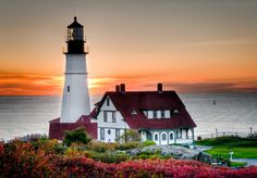 Portland Lighthouse, in Maine. I have been there. 1987-the best vacation I have ever had!!!