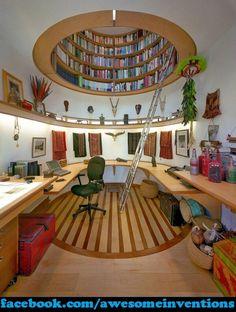 Dome Shaped Bookshelf! Awesomeness!