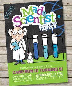 Mad Scientist Birthday Invitation, Mad Science Birthday Invitation, Slime Birthday Invitation, Science Birthday Invitation