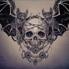 Resultado de imagem para bat tattoo tumblr