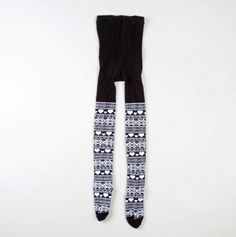 Girls Fair Isle Tights - Infant and Toddler Winter Tights Under $5