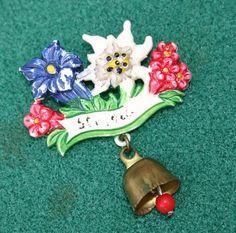 Vintage Plastic Swiss Alpine Flowers Souvenir by gillardmay2011, £7.50