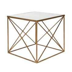 aidan gray furano side table -  Classic and distinctive, the Aidan Gray collection brings to life a passion for all things time worn.  The golden Furano side table exudes refined sophistication over the transitional living room.  Rising to a timeless antique glass surface, the furnishing's clean-lined rectangular frame features criss-cross panels for a geometric statement.