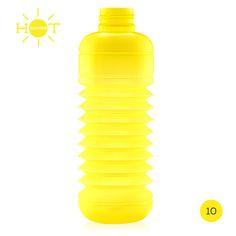 Hot Summer · Semitransparente  |  #Botella #plegable #Squeasy de polipropileno sin bisfenol A (BPA)  /  100% #reciclable.  /  Capacidad de 0.3 a 0.7 litros.  /  Apta para uso alimentario.  /  Apta para lavavajillas. Suave aroma  a vainilla (para evitar el olor a plástico, no afecta al contenido de la botella)  /  #Diseño Suizo.