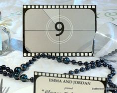 Movie Title Table Number Wedding Art Deco by ShannaMicheleDesigns