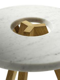 Low #marble coffee #table treeO by TEAM 7 | #design Jacob Strobel, Sebastian Desch, Stefan Radinger @TEAM 7 Natürlich Wohnen GmbH