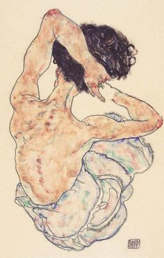 Artelema is raising funds for Make 100 - Egon Schiele, limited edition on Kickstarter! For the anniversary of this famous Seated Nude by Egon Schiele, a deluxe limited edition print. Dessins Egon Schiele, Egon Schiele Drawings, Gustav Klimt, Figure Painting, Figure Drawing, Painting & Drawing, Egon Schiele Zeichnungen, A Level Art, Tempera